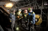 Predko GLEB: Shift superintendent instructs men at coal mine Blagodatnaya (Ukraine)