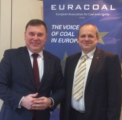 EURACOAL President, Dr. Zygmunt Łukaszczyk (left) with EURACOAL Vice President, Mr. Vladimír Budinský (right), 19 January 2015