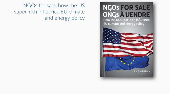 Report on the funding of anti-coal campaigns by NGOs