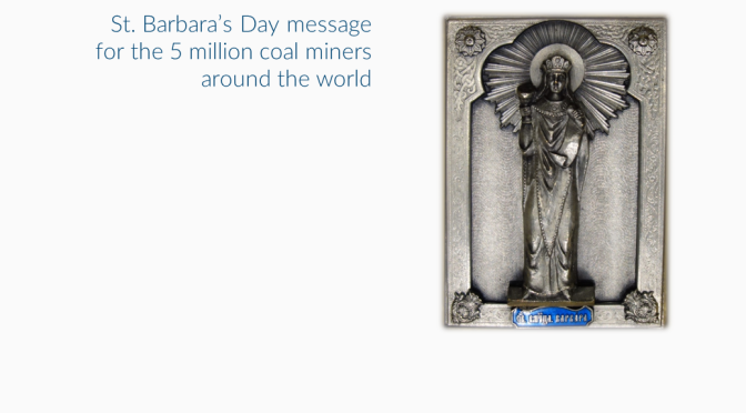 Patron saint's day celebrated by coal miners, amidst COP21 negotiations