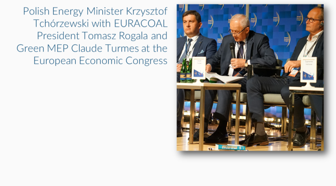 A strong EURACOAL voice at the European Economic Congress in Katowice