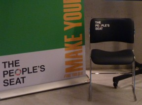 The People's Seat used by Sir David Attenborough