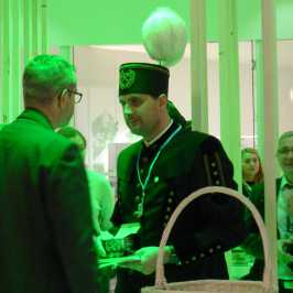 UN delegate greeted by a Polish coal miner